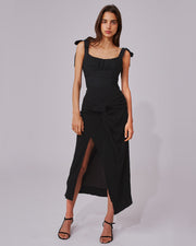 C/MEO COLLECTIVE | BLAIZ | Black Twist Midi Skirt
