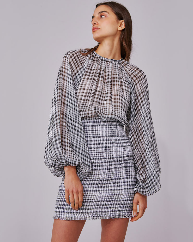 Stealing Sunshine Checked Dress
