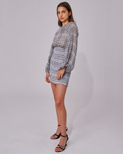 C/MEO COLLECTIVE | BLAIZ | Checked Sheer Mini Dress