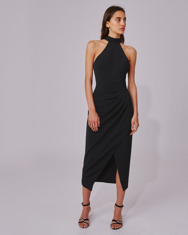 Black Caliber Halterneck Dress