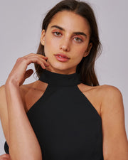 C/MEO COLLECTIVE | BLAIZ | Black Caliber Halterneck Dress