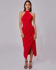 C/MEO COLLECTIVE | BLAIZ | Red Caliber Halterneck Dress