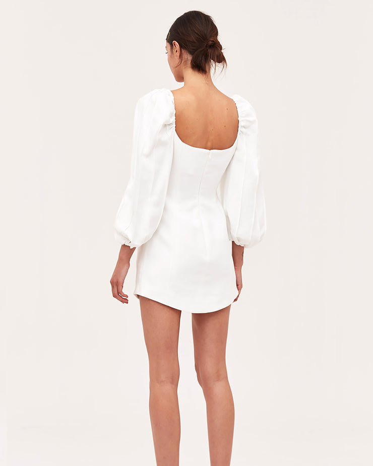Over Again Ivory Mini Dress