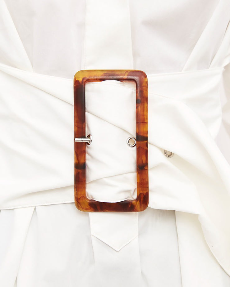 C/MEO COLLECTIVE | BLAIZ | Artwork White Belted Shirt