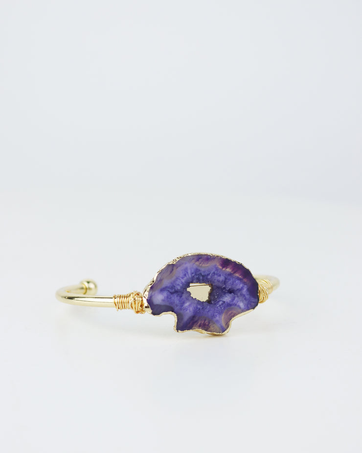 BLAIZ | 227 accessories | Violet Purple Stone Bracelet, agate stone jewellery