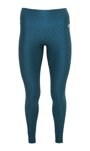 Teal Glow Compression Leggings
