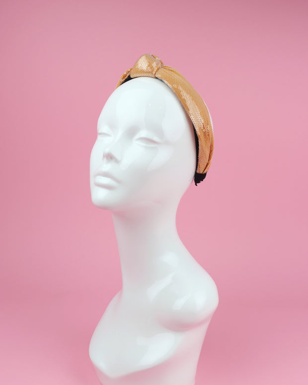 227 | BLAIZ | Rust Orange Sequin Headband