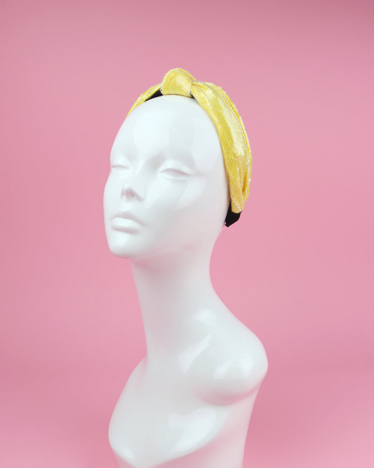 227 | BLAIZ | Yellow Sequin Headband