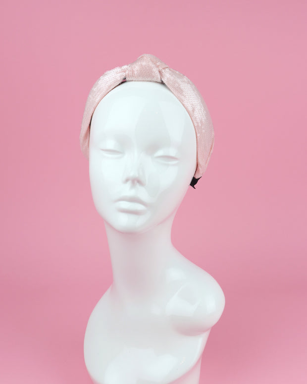 Baby Pink Sequin Headband