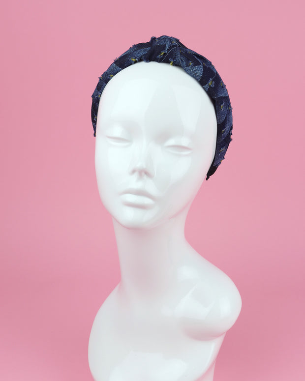 BLAIZ | 227 | Yellow Details Denim Headband