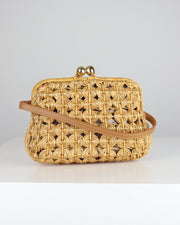 Amy Tracy Light Wicker Clutch