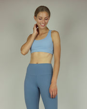 Dusty Blue High-Waisted Leggings