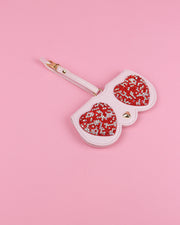 Rhinestone Heart Sunglasses Case