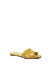 Load image into Gallery viewer, Yellow Croc Embossed Sandals