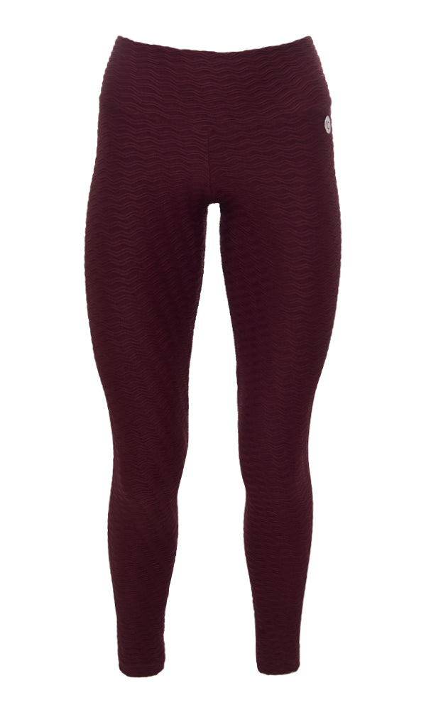 Burgundy PTNT Leggings