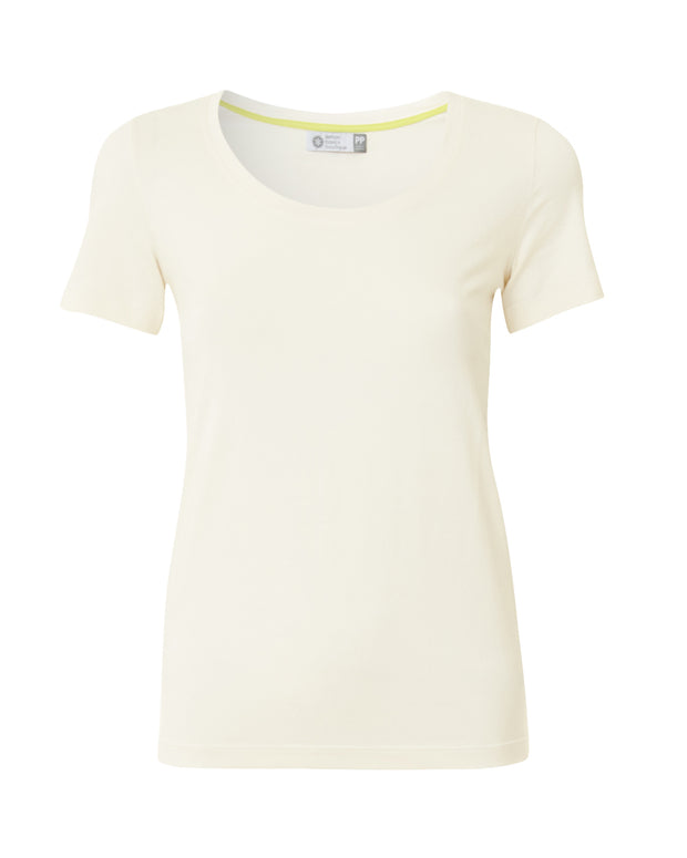LEMON BASICS | BLAIZ | Cream Short Sleeve Fitted T-Shirt