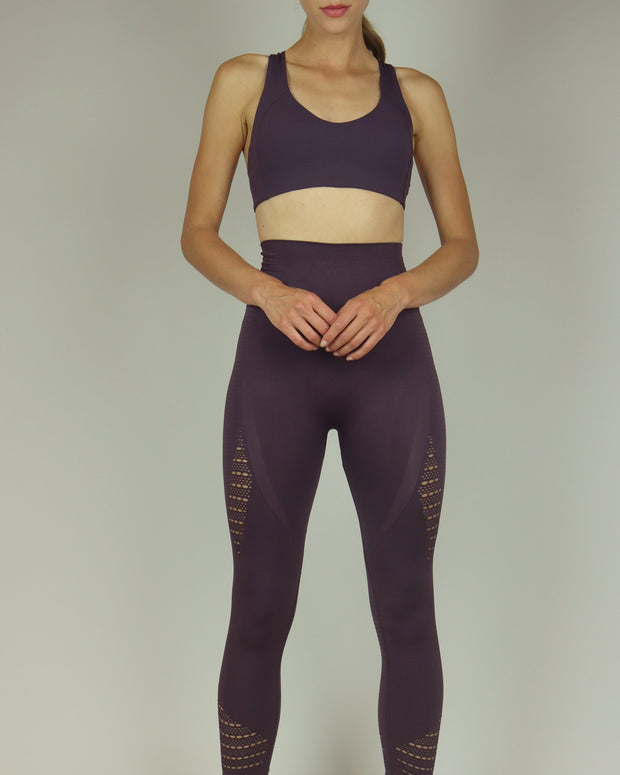 BLAIZ | BLAIZ | Purple Fishnet High Waisted Leggings