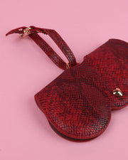 Red Snake Print Sunglasses Case