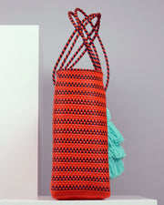 OAXACA | BLAIZ | Constanza Orange Large Woven Tote Bag