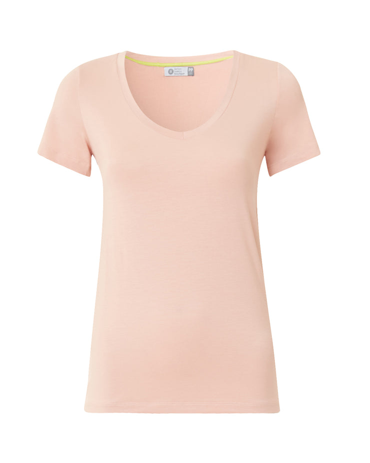 Peach Short Sleeve Fitted T-Shirt