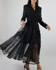 SKAZI | BLAIZ | BLACK LACE BLAZER DRESS