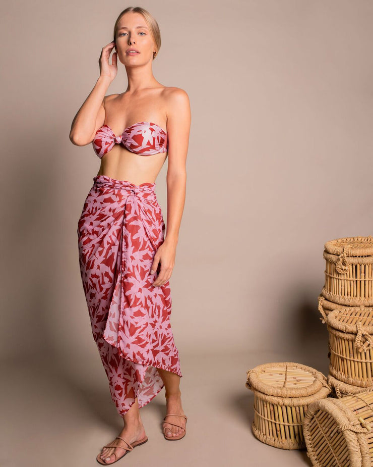 Red & Pink Floral Sarong
