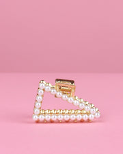 227 | BLAIZ | Triangular Gold & Pearl Hair Clip