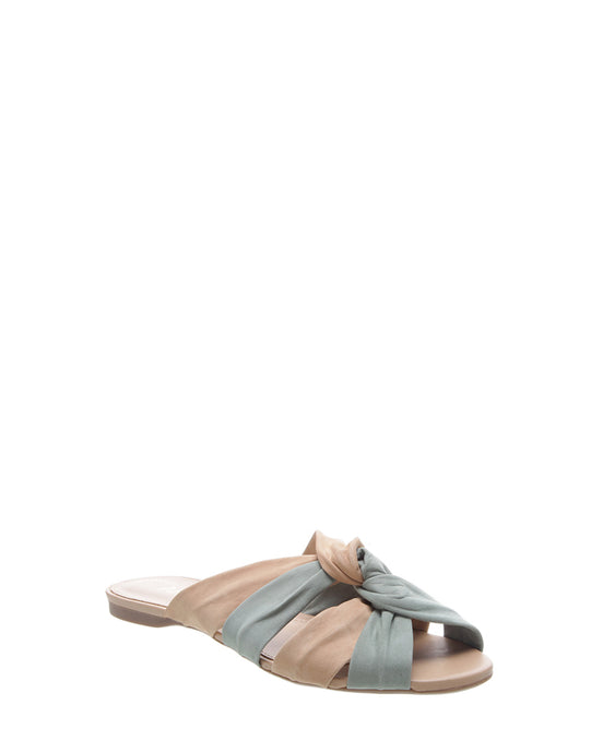 Blue & Nude Knot Leather Sandals
