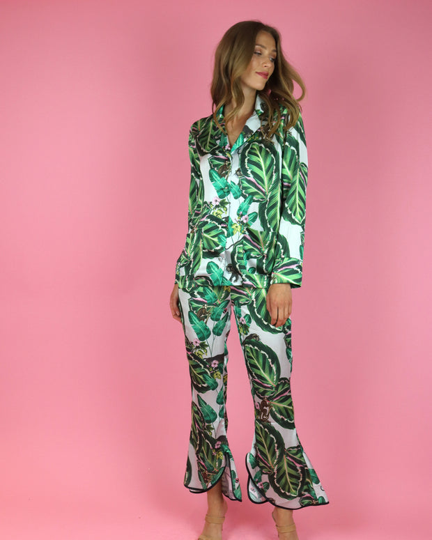 Amazona Leaf Print Trousers
