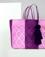 Raquel Large Woven Tote Bag