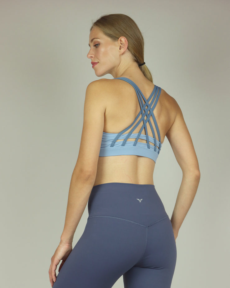 Dusty Blue Sports Bra