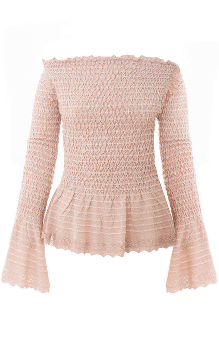 Sparkly Rose Knit Top