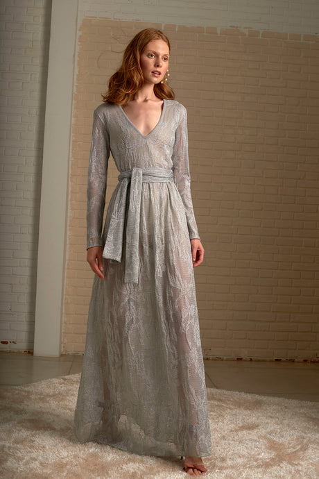 Silver Maite Maxi Knit Dress