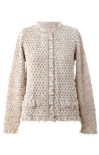 Load image into Gallery viewer, Short Nude Metallic Knit Cardigan