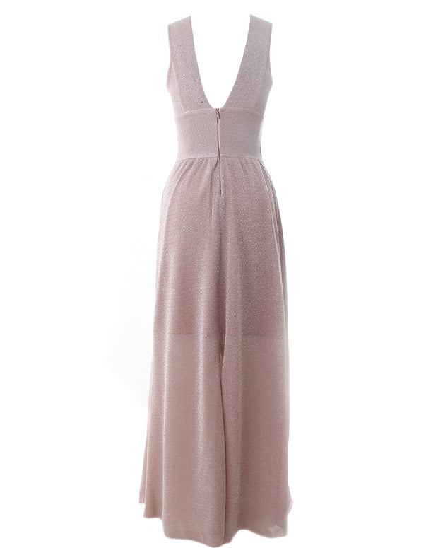 CECILIA PRADO | BLAIZ | Sparkly Pink Long Sleeveless Maxi Dress