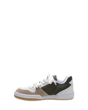 SCHUTZ | BLAIZ | White Green Tennis Sneakers Trainers Suede