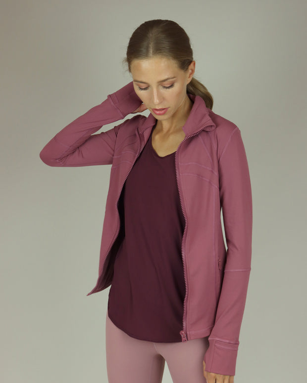 Raspberry Pink Yoga Jacket