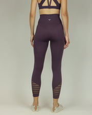 Purple Fishnet High-Waisted Leggings