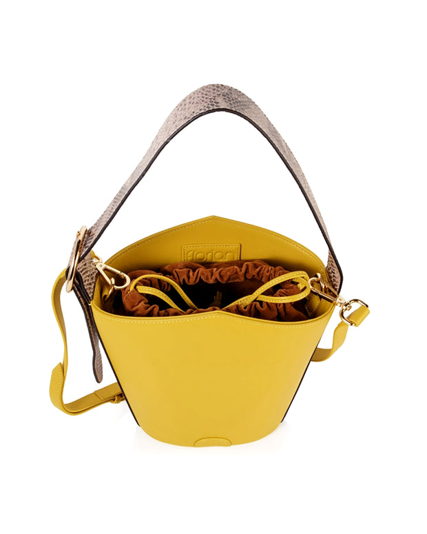 Yellow Ava Bucket Bag