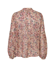 Pink Floral Sheer Blouse