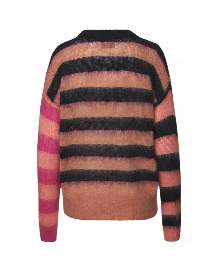 Striped Hide Mohair Sweater