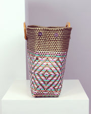 Malena Wooden Handle Woven Tote