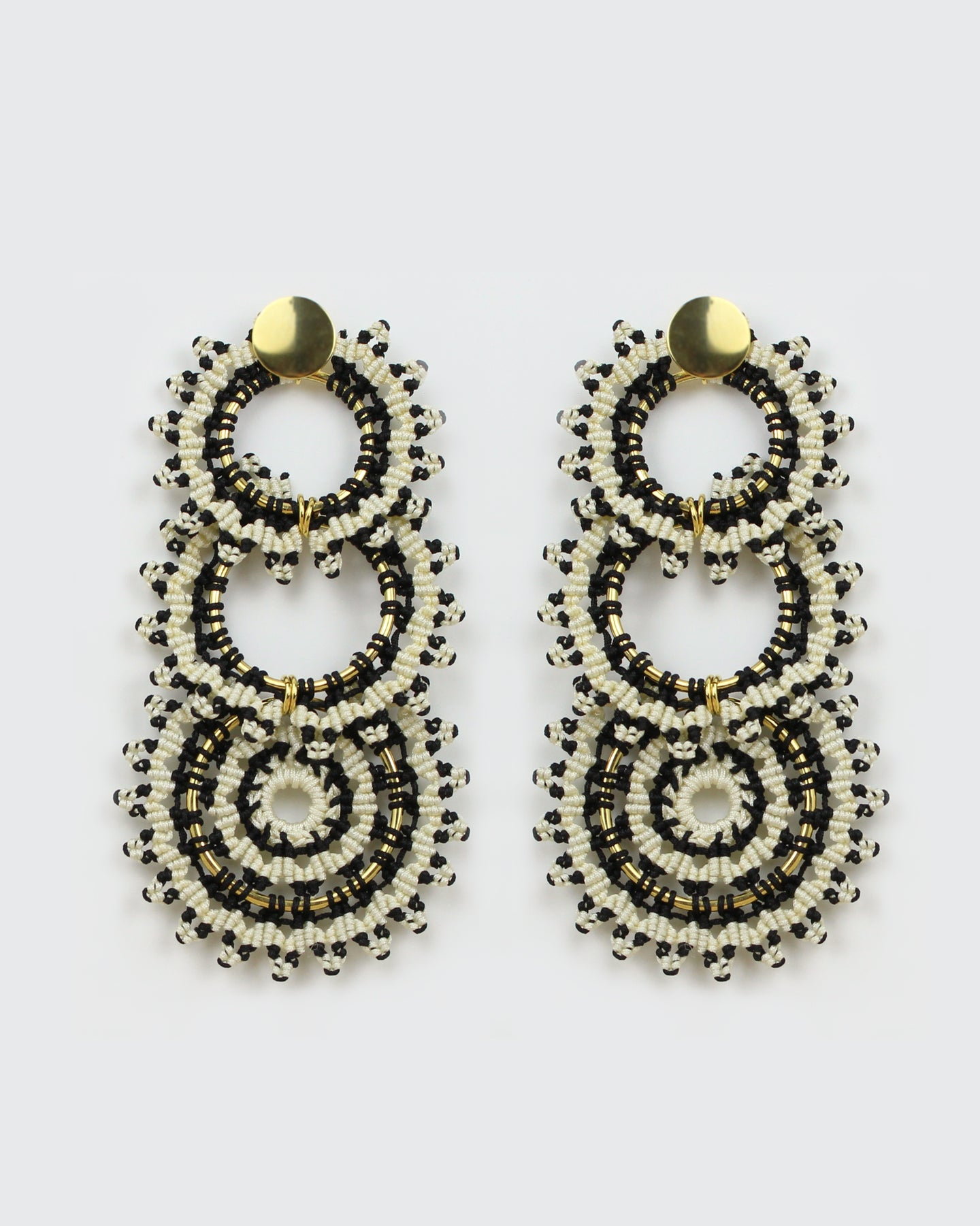 Infisol Gold, Black & White Triple Hoops