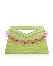 FLORIAN LONDON | BLAIZ | Lime Green Freya Clutch Bag