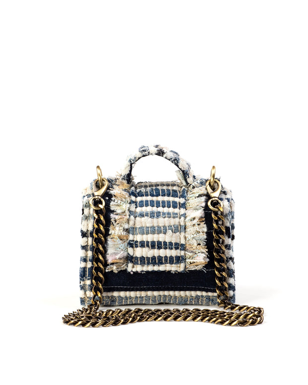 Blue Denim Hollywood Mini Shoulder Bag
