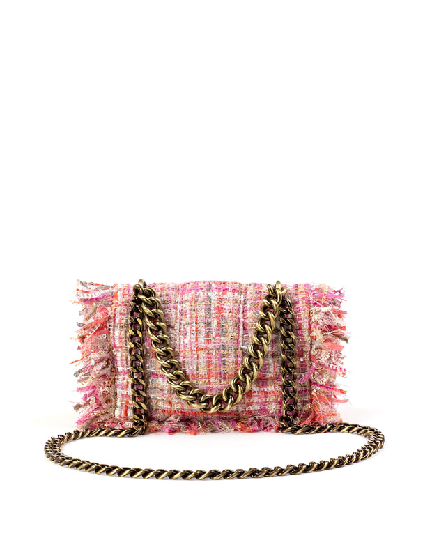 KOORELOO | BLAIZ | Pink Tweed & Sequins San Francisco Bag