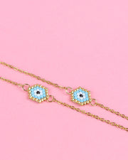 227 | BLAIZ | Turquoise Evil Eye Beaded Necklace