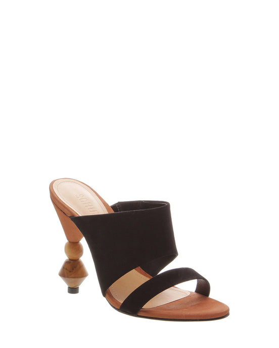 Black High Heel Mules