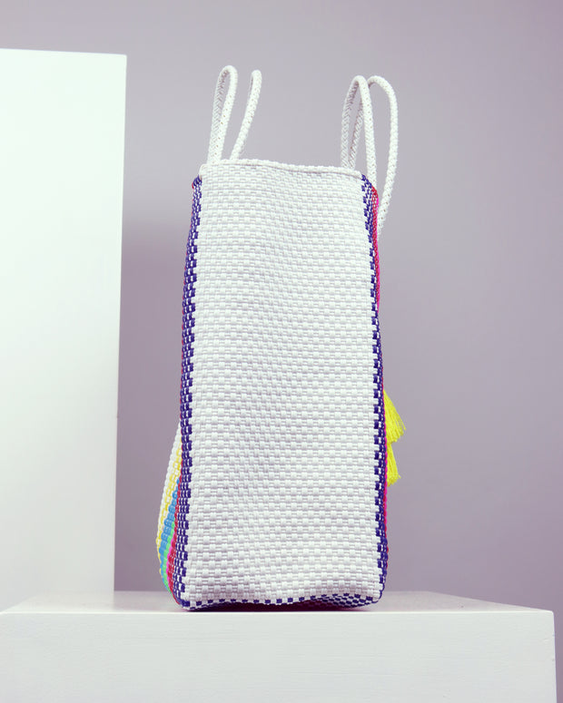 OAXACA | BLAIZ | Mariangel Large Multicolour Woven Tote Bag