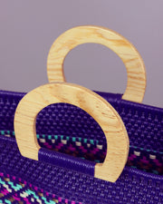 Luana Wooden Handle Woven Tote